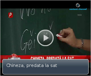 limba chineza se preda intr-un sat romanesc
